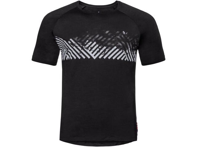 Odlo BL Concord T-shirt à col ras-du-cou Homme, black-mountain stripe ss19